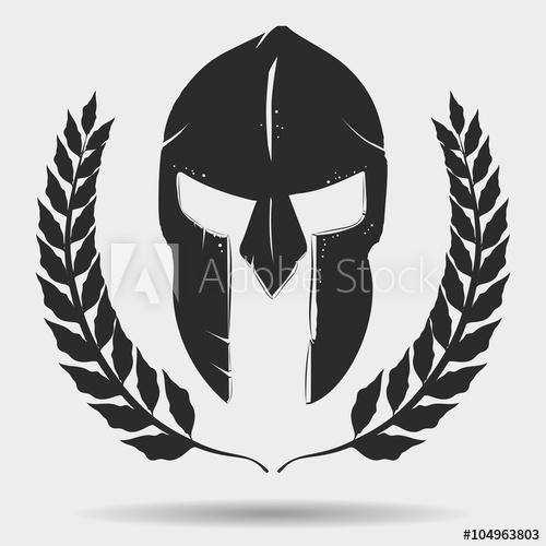clip art transparent Vector crest gladiator. Helmet with laurel wreath