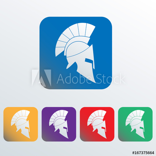 clip art library stock Spartan and helmet icon. Vector crest gladiator