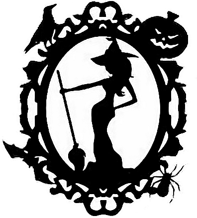 freeuse library Goth witch halloween remixit. Vector crest gothic