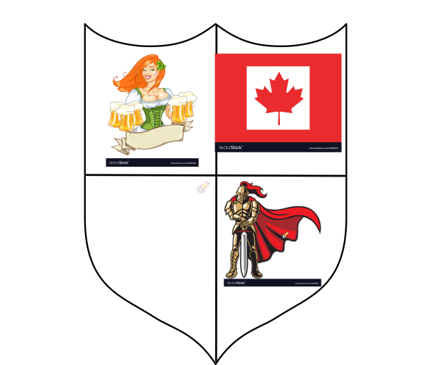 vector royalty free stock And girl canada clip. Vector crest knight
