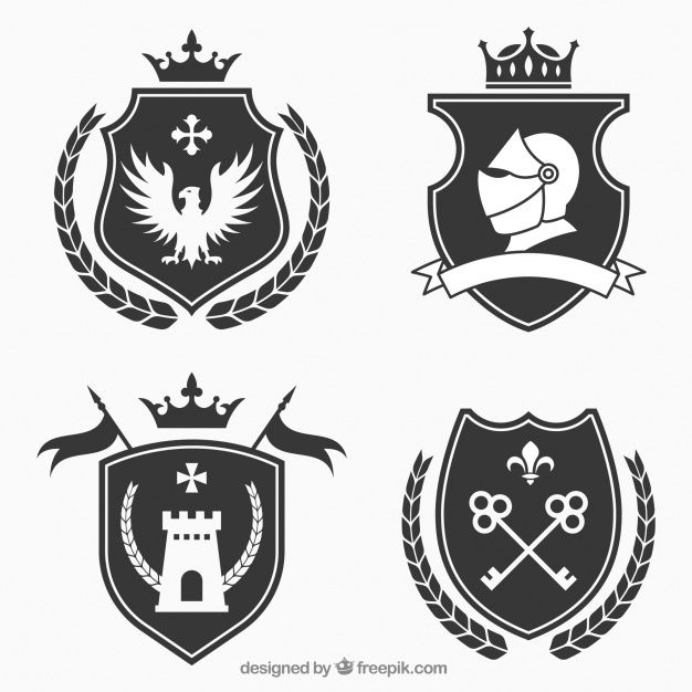 png transparent stock Vector crest knight. Emblem design pack free