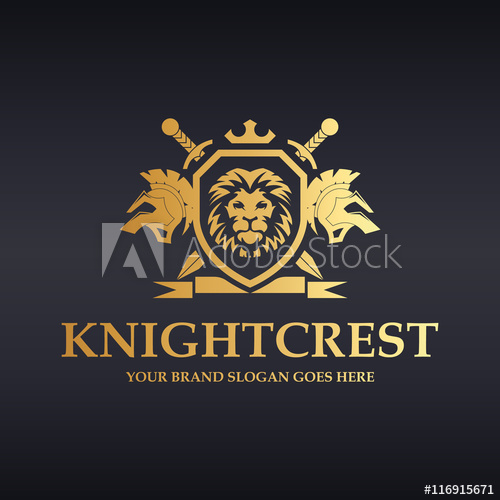 vector transparent library Vector crest knight. Logo heraldic lions with