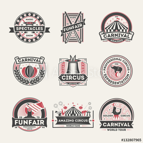 image library stock Vector crest magic. Circus vintage isolated label