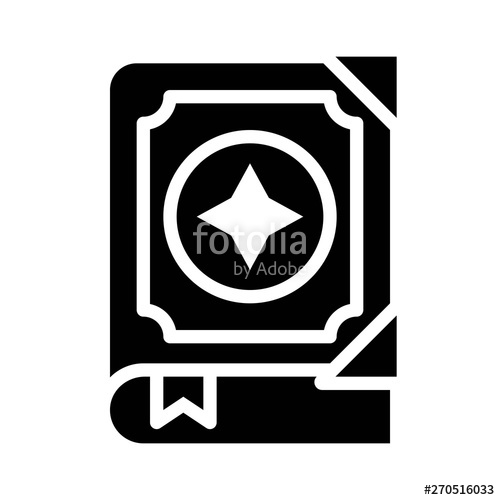 image free Vector crest magic. Spellbook related solid style