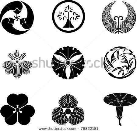 jpg free stock Japanese family crests stock. Vector crest magic