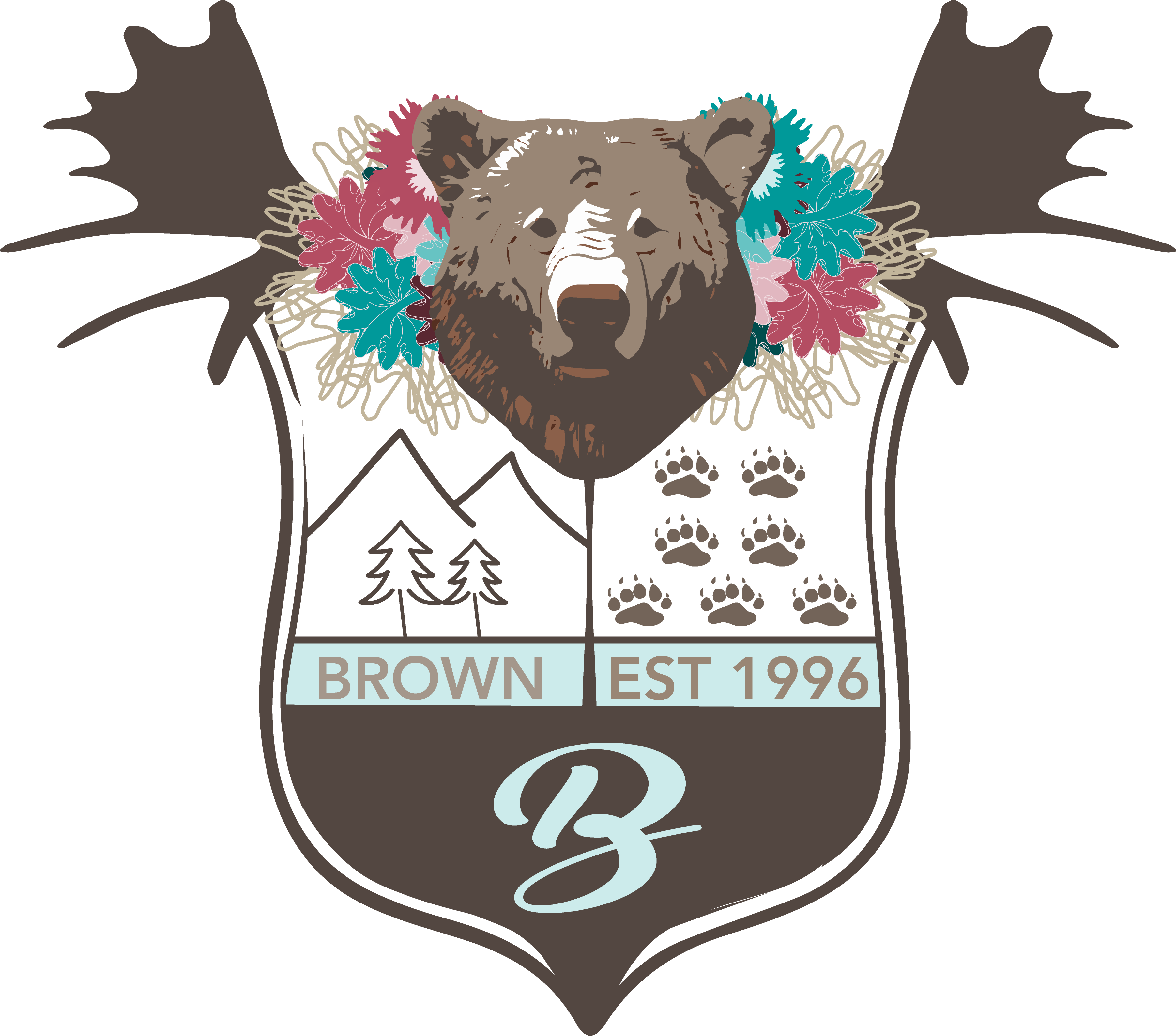 graphic freeuse stock Family created by brown. Vector crest modern