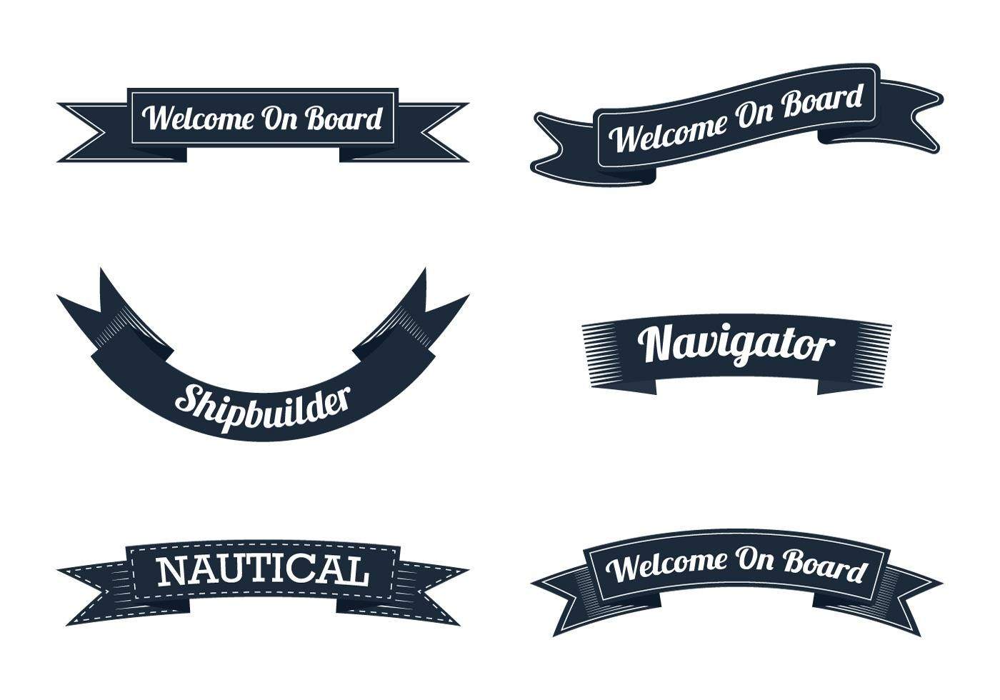 graphic freeuse download Vector crest ribbon. Nautical art free