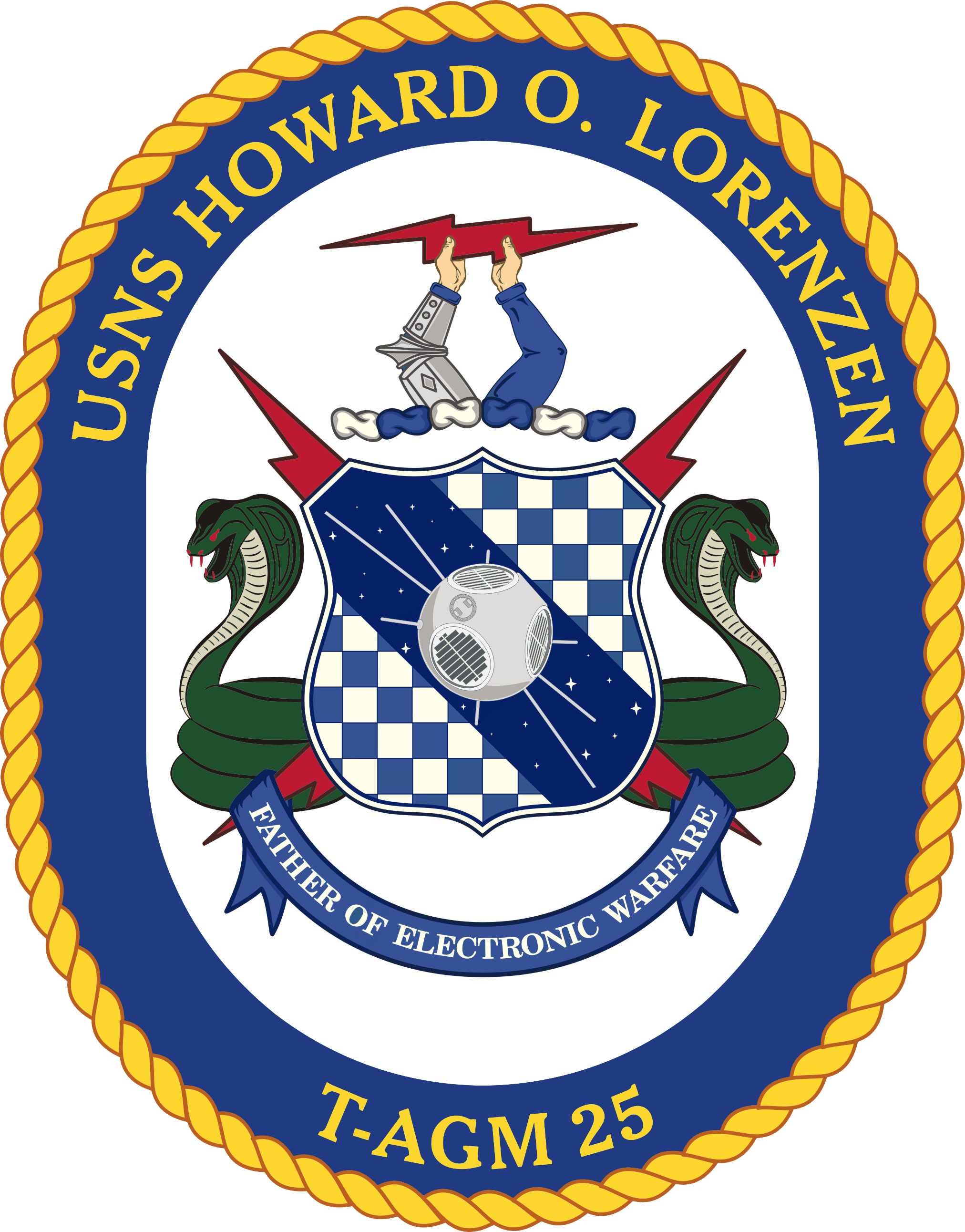png library library File usns howard o. Vector crest rope