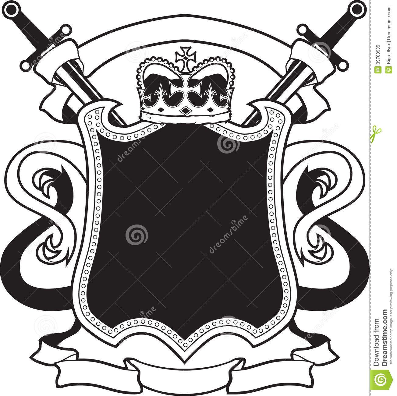 svg royalty free stock King s stock image. Vector crest scroll