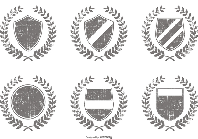 vector royalty free stock Distressed shapes free download. Vector crest shape