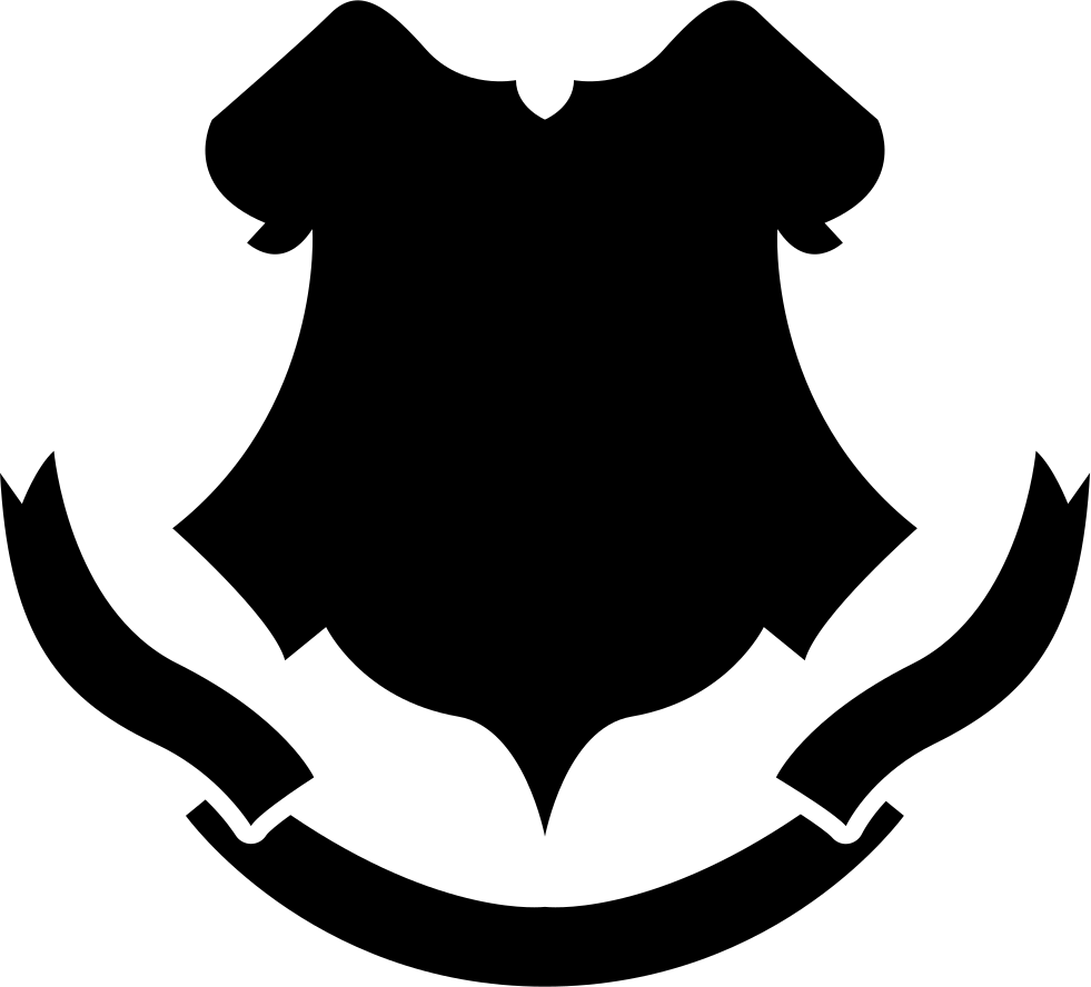 svg library library Vector crest shape. Shield black with a