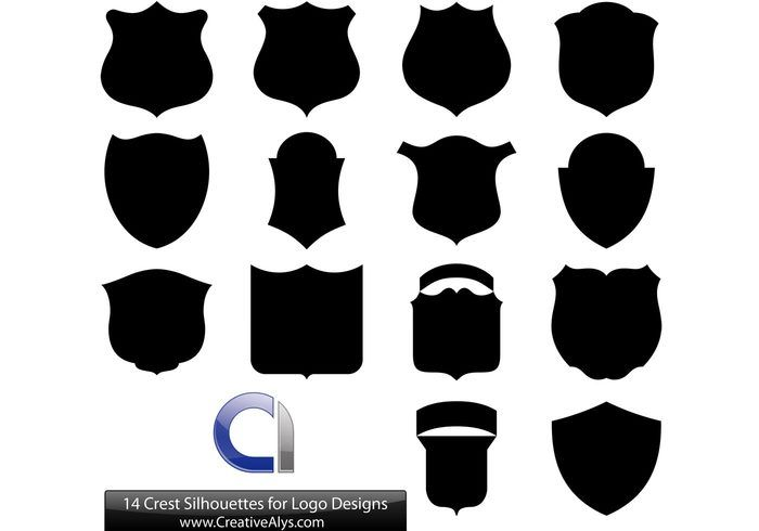 jpg library stock Vector crest silhouette.  silhouettes for logo