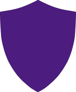 vector royalty free library Vector crest simple. Violet no border clip