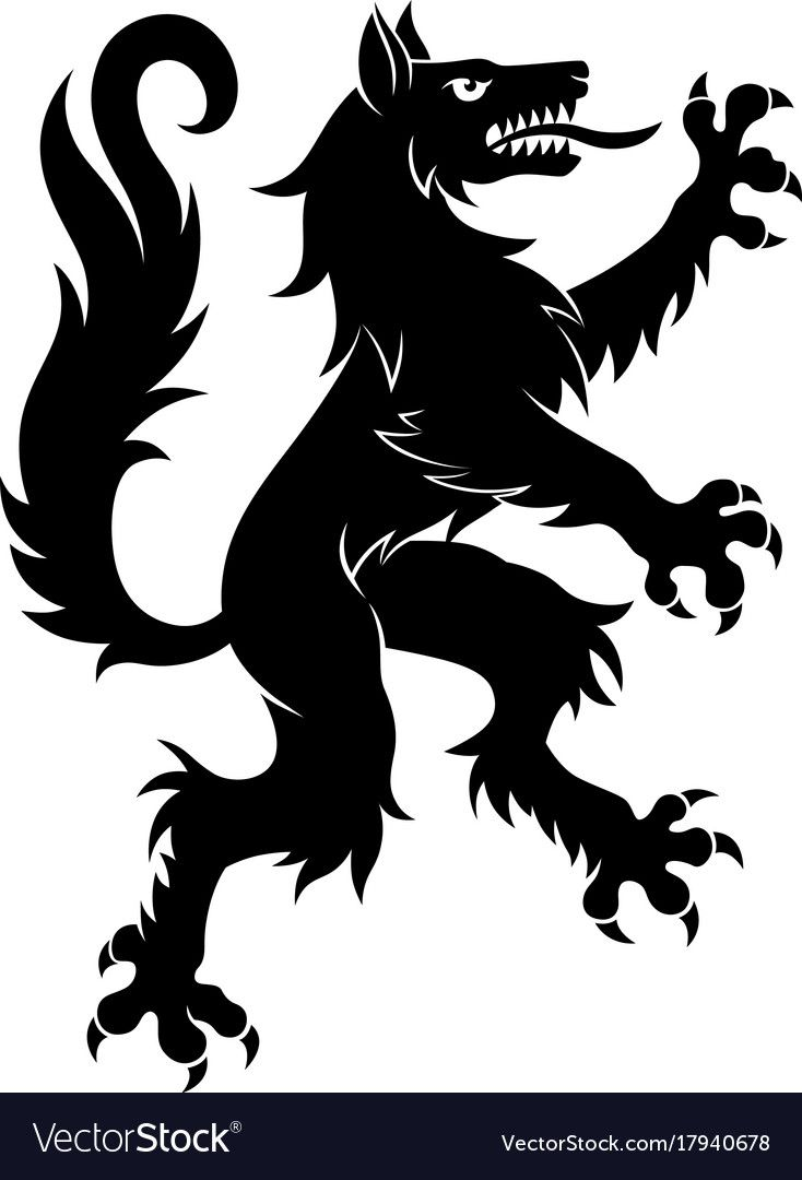 graphic library library Vector crest simple. Wolf example fernwood in