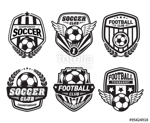 graphic freeuse Vector crest soccer. Set of football crests
