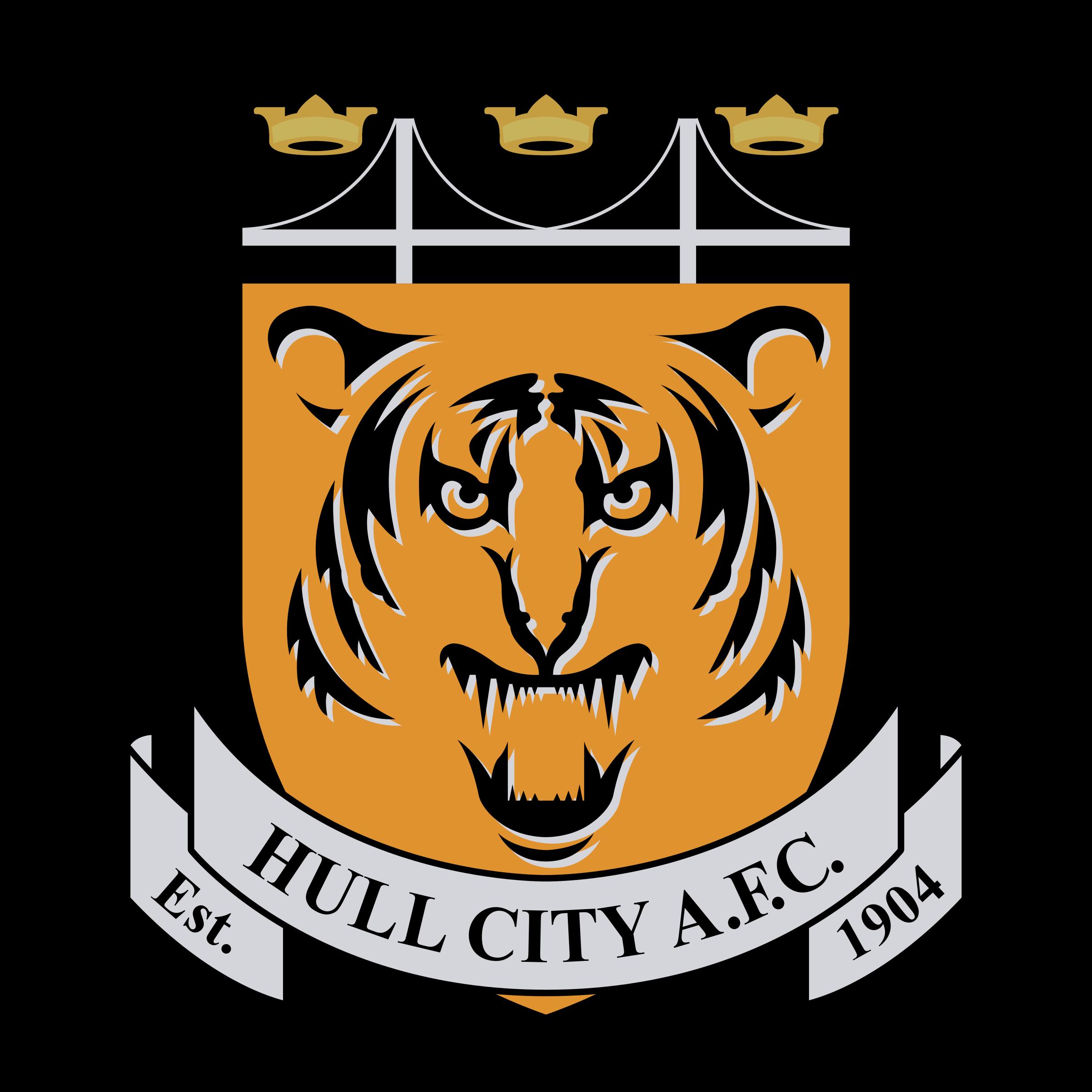 clipart transparent download Vector crest tiger. Hull city fc logo