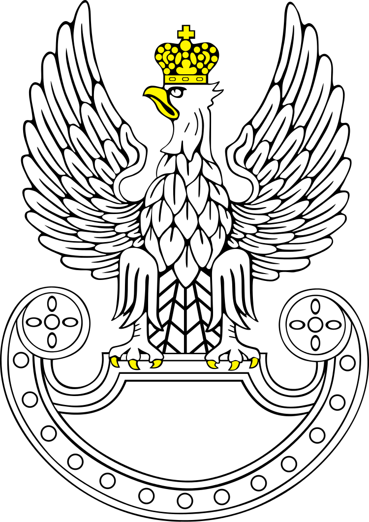 picture library Vector crest weapon. Polish land forces military