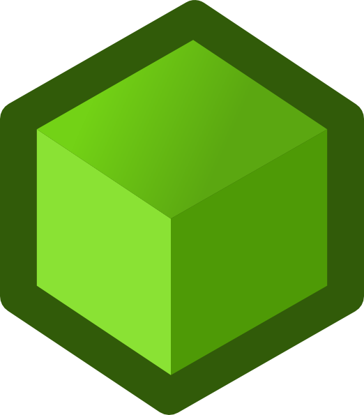vector library stock Green Cube Clip Art at Clker