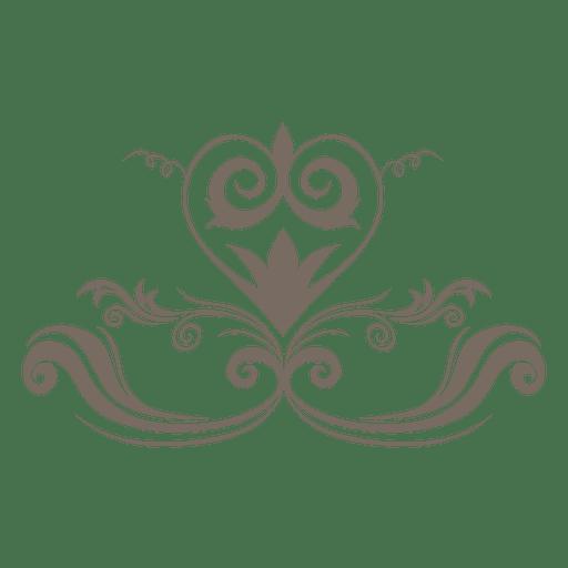 jpg royalty free download Floral curves heart corner