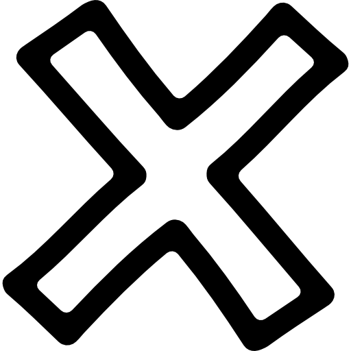 png freeuse Vector delete cross. Hand drawn symbol outline