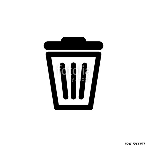 banner royalty free download Vector delete icon. Trash can stock