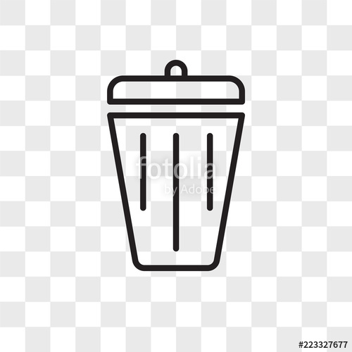 vector freeuse download Icon isolated on transparent. Vector delete logo