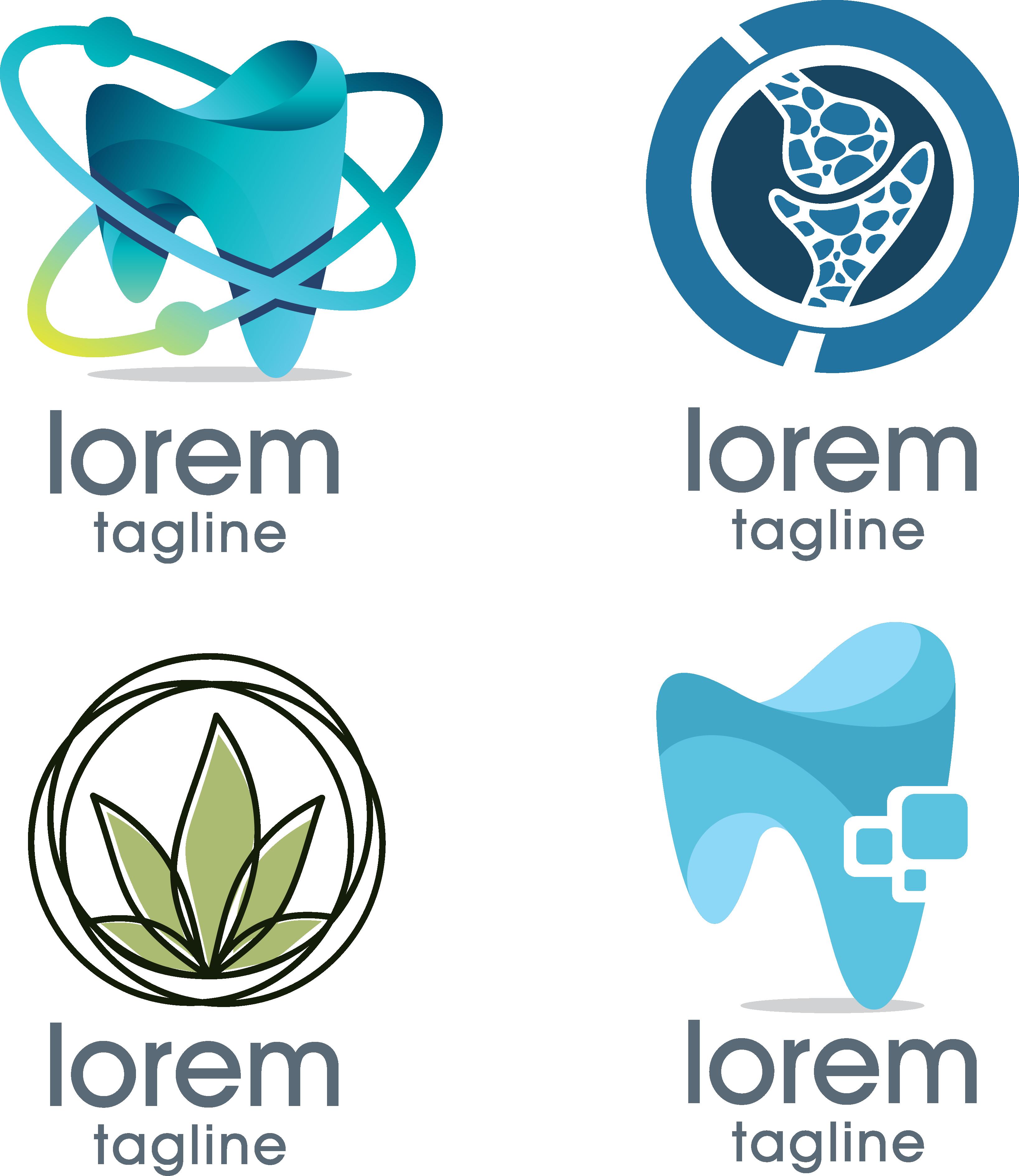 banner black and white library Vector dental. Logo medicine dentistry hand