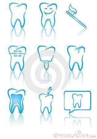 jpg transparent stock Great illustration of symbols. Vector dental art