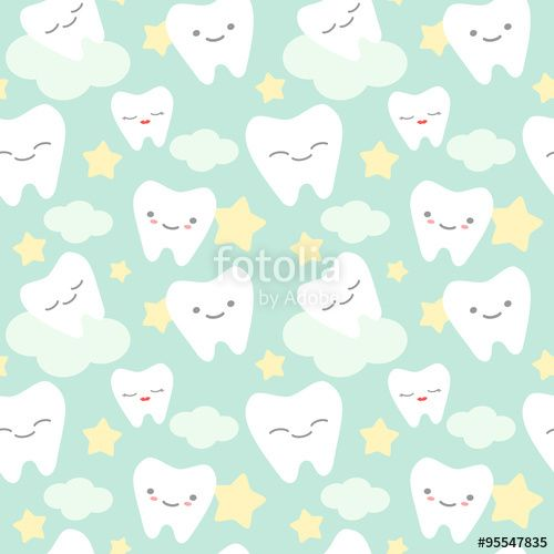 picture free library Vector dental art. Cartoon teeth cute colorful