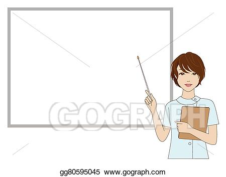 png royalty free download Vector dental assistant. Eps female holding a