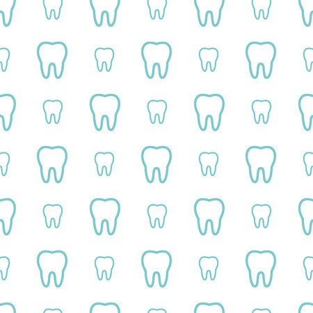 clipart royalty free stock Vector dental background. Teeth on white seamless