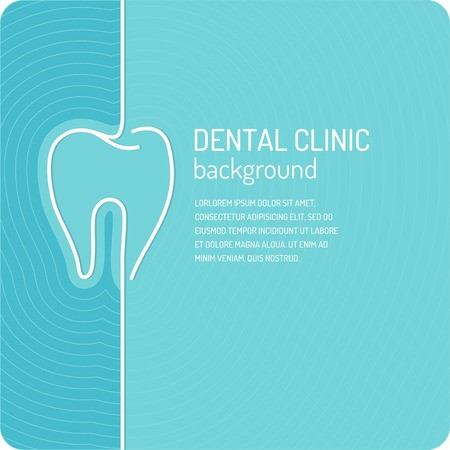 image freeuse stock Vector dental background. Linear for dentistry poster