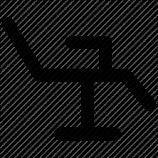 vector transparent Vector dental chair. Health bold line by