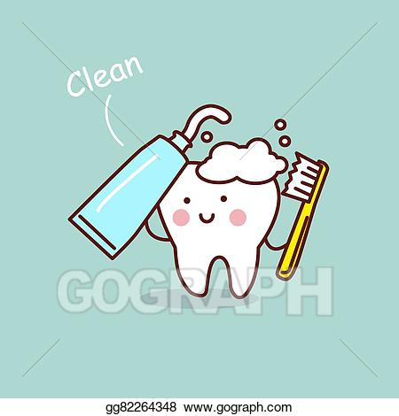 png royalty free Vector dental cute. Illustration cartoon tooth brush