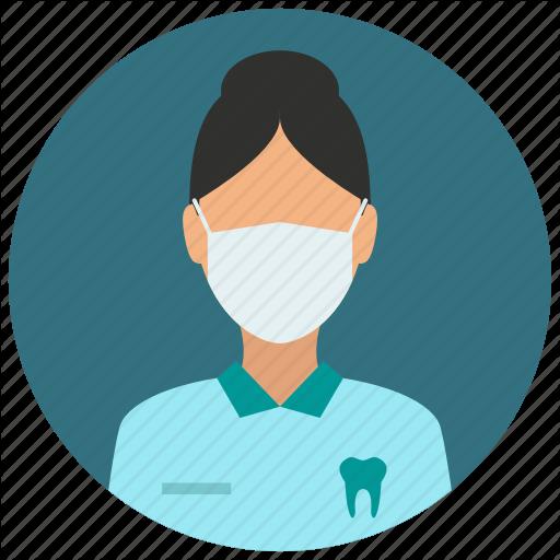 svg library People of medical education. Vector dental female dentist