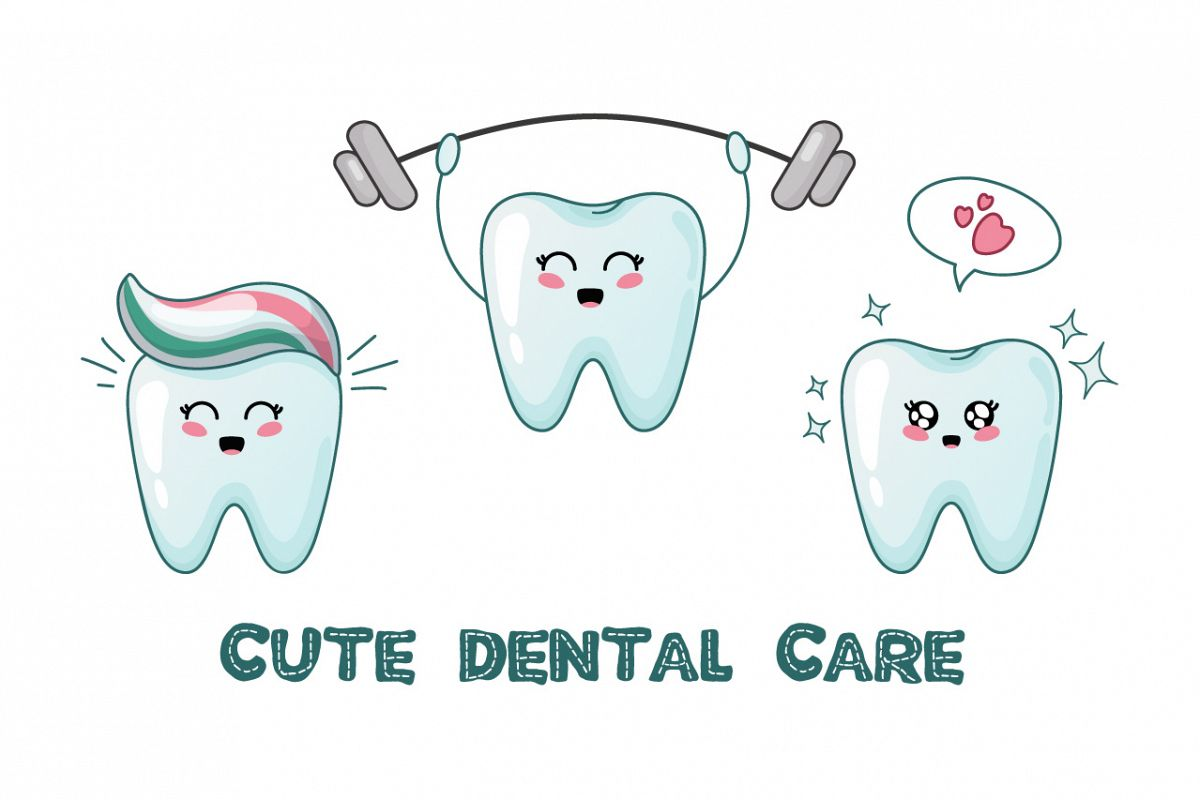 png black and white download Vector dental happy tooth. Kawaii teeth