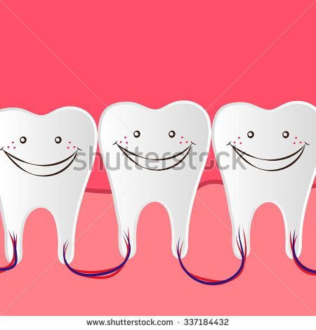 banner free stock Care illustration with a. Vector dental happy tooth