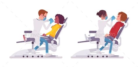 transparent And dentist doctor eps. Vector dental male female
