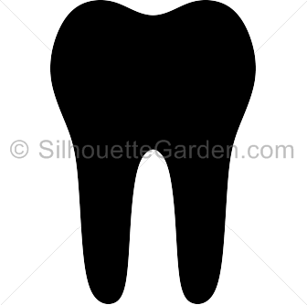 clip art stock Vector dental silhouette. Tooth clip art download