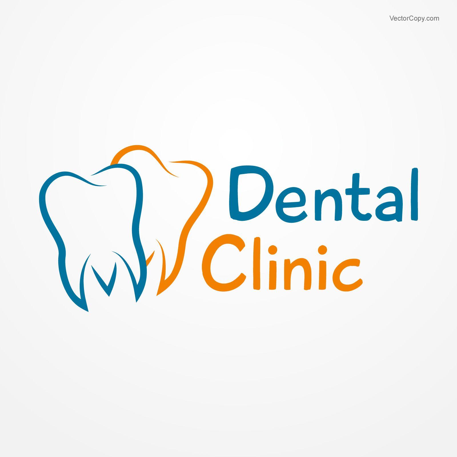 graphic free library Vector dental surgery symbol. Clinic logo free vectorart