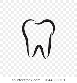 png royalty free stock Vector dental surgery symbol. Tooth logo icon for