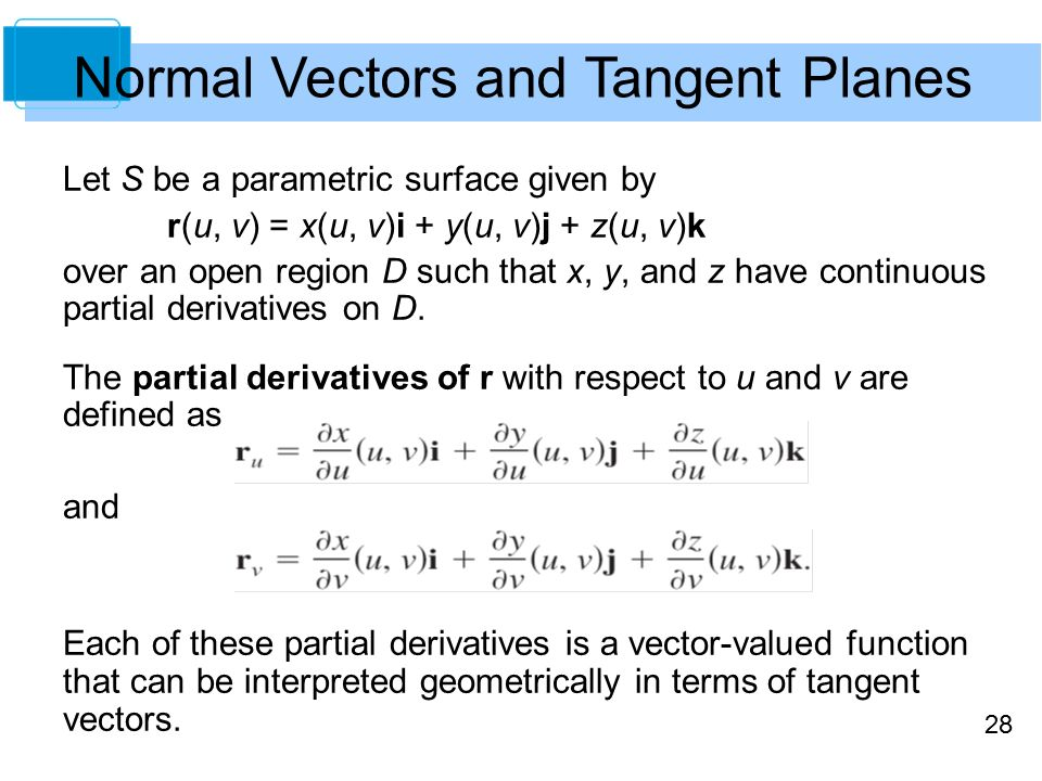 banner free download  copyright cengage learning. Vector derivatives normal