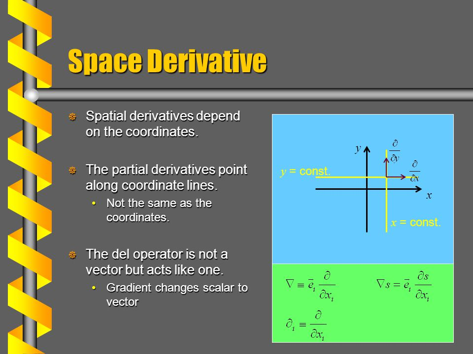 clip royalty free stock Vector derivatives spatial. Fields time derivative of