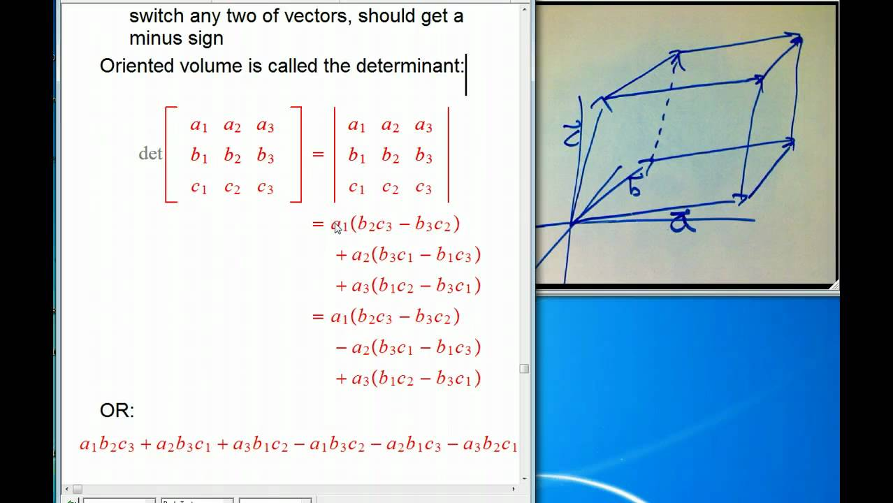 vector stock  d and determinants. Vector determinant volume.