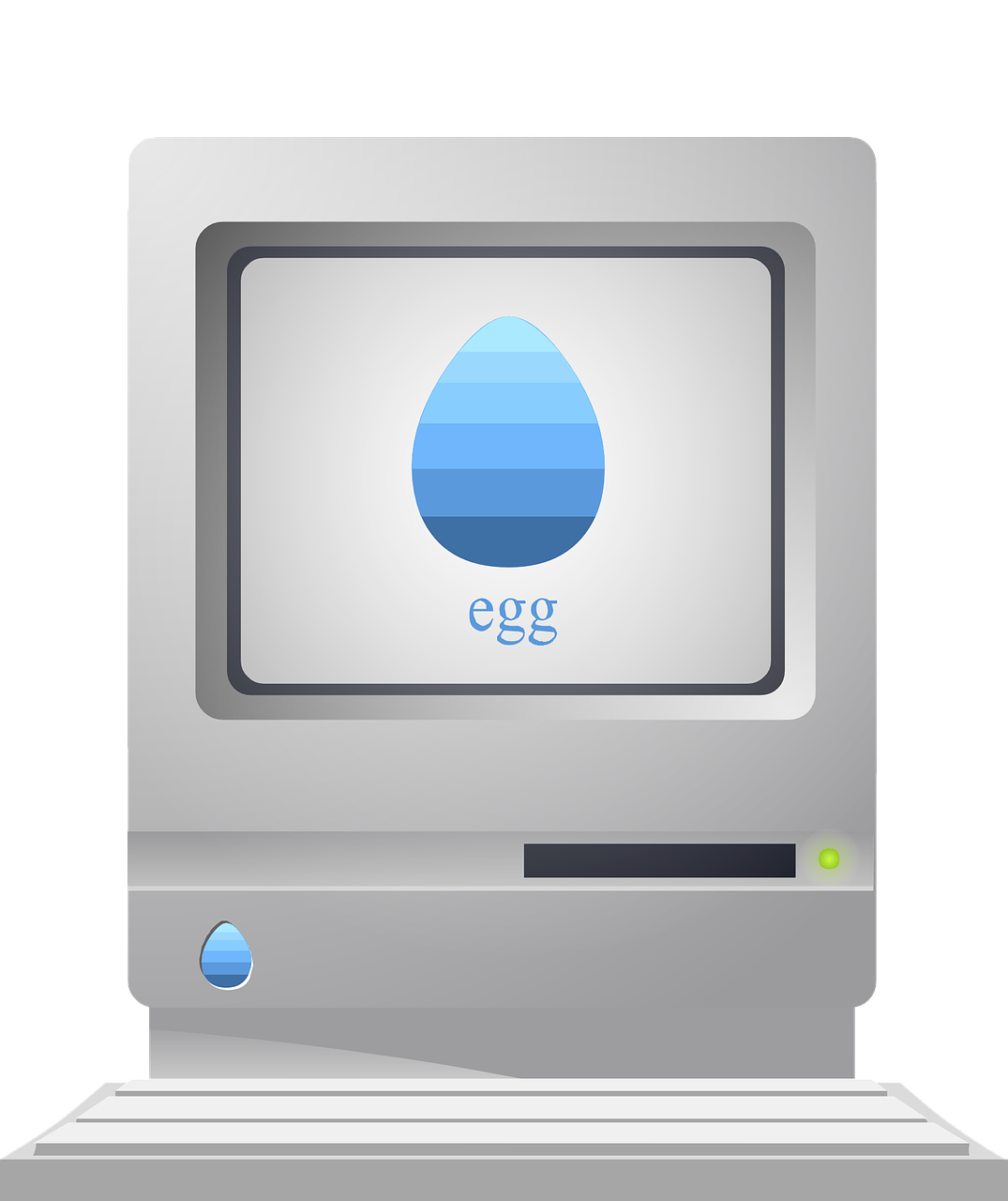 vector black and white Vector computer technology. Retro desktop macintosh free