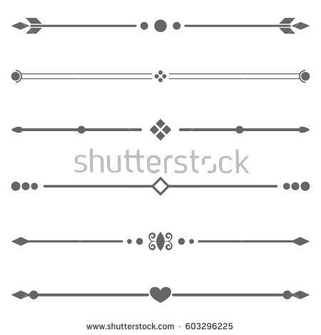 png library Vector dividers certificate. Set vintage element border