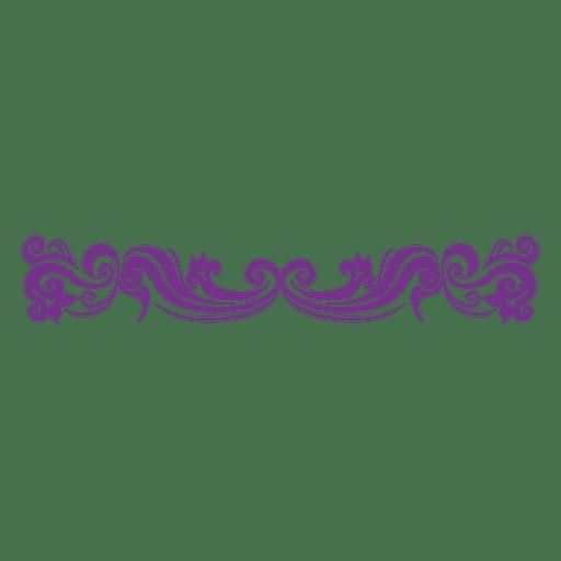 freeuse Purple Decorative floral divider