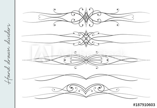 image free library Vector dividers elegant. Beautiful hand drawn flourish