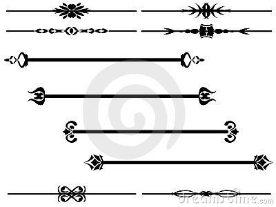 banner freeuse download Vector dividers filigree. Borders dangles divider by