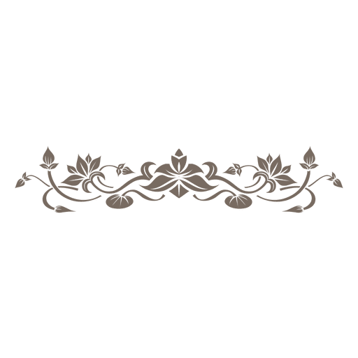 jpg transparent library Download floral decorative ornament. Vector dividers flower